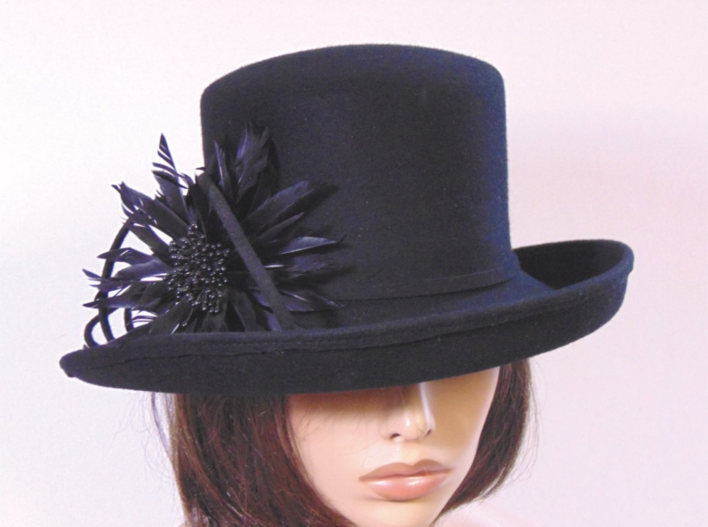 6e41b4cd610d Sombrero vestir invierno mujer negro - Jamir