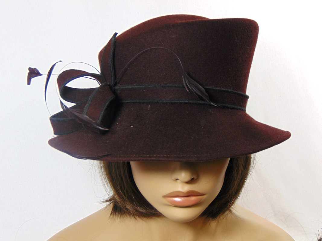 dde9a6b547514 Sombrero gorro mujer fieltro marrón - Jamir