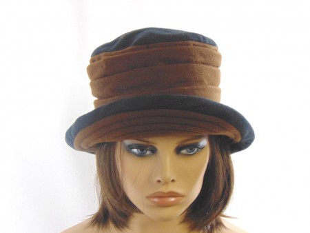 Gorro feltina marron negro