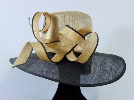 Sombrero moda crudo negro