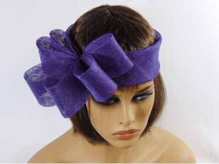 Tocado turbante morado