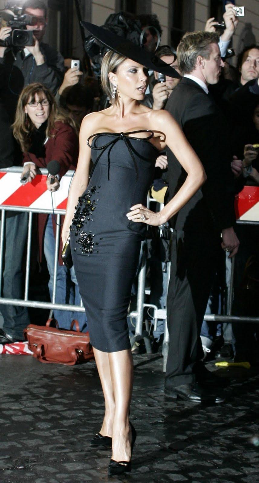 Pamela que lució de noche Victoria Beckham